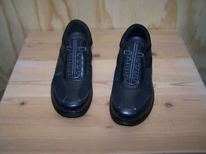 Grasshoppers EH37396 Get Fit Women's Size 8M Black Slip On Shoes Sneakers EUC M8