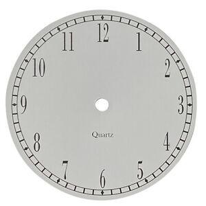 New Quartz 6'' Aluminium Clock Dials Faces Colour And Number Option Clock Making
