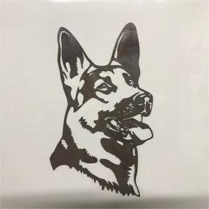 German Shepherd Dog Metal Head Wall Art
