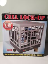 CELL PHONE LOCK UP JAIL  STOP DISTURBANCE FUN FAMILY TIME GAG GIFT AUDIO