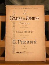 Gabriel Pierné Le Collier de Saphir pantomime partition piano éditions Leduc