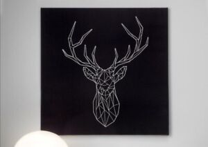 Brand New Ikea Stag Canvas Wall Art 56x56cm