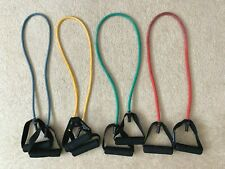 Used Black Mountain Products Resistance Bands Set of 5 Home Training Gym