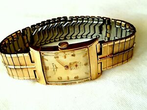 1953 MANS LONGINES 10K GOLD FILLED WRISTWATCH.EXCELLENT COSMETIC & WORKING COND