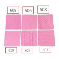 Fondant Mold Knitting Silicone Sweater Texture Embossed Mat Baking Pattern Tool
