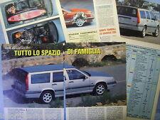 QUATTROR993-PROVA SU STRADA/ROAD TEST-1993- VOLVO 850 2.0 SW GLT -6 fogli