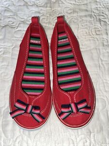 Gymboree Red Slip On Shoes Girls Size 3 Youth Worn Once