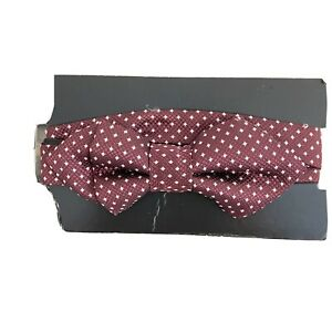 Bow Tie Maroon with White Squares - H & M