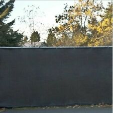6' Privacy Fence Screen Black Windscreen Shade Cover Fabric Mesh Garden Tarp New
