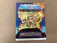 Vintage Retro Amos del Universo (Amos del universo) Mini Comic rey de los Snakemen