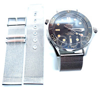 Steel Mesh Milanese Watch Strap NO TIME TO DIE Bond for OMEGA 22mm Seamaster