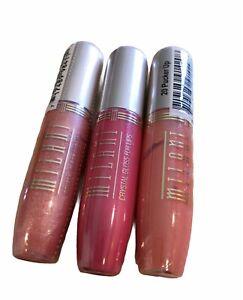 Milani Crystal Lipgloss 11A Tantalizing, 22 Fruit Punch, 20 Pucker Up.   3 Pk