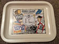 "EDEN CAMP SOUVENIR TRAY MOD HISTORY THEME MUSEUM RATION BOOK & POSTERS 8"" x 6.5"""
