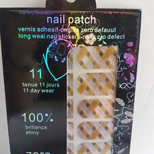 New 16 Silver Nail Foils Brown & Grey Line Design, Striped Nail Foil Art Design