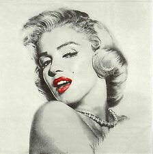 4x MARILYN MONROE Tovaglioli di carta per Decoupage Decopatch Craft