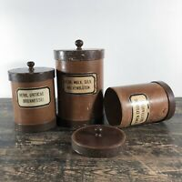 A set of 19th century German herbalists containers