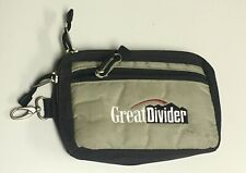 Great Divider Golf Cart Bag Tan Black Zippered Valuables Pouch Pocket Tees Balls