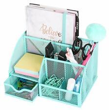 EXERZ Mesh Desk Organizer/Pen Holder/Multifunctional Organizer (Turquoise)