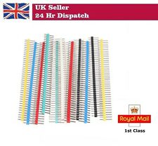 Colour Male 40 Pin 2.54mm Header Strips for Raspberry Pi Arduino 6 STRIP PACK