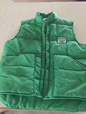 Sno King Winter Vest Green Size Medium Vintage