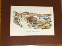 "Native Harbour Singapore Circa 1900 Wood Engraving Print-Boat Quay- 12"" x 16"""