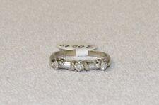 14k White Gold Diamond Band Ring size 4.75