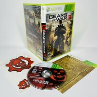Gears of War 3 Microsoft Xbox 360 2011 CIB COMPLETE TESTED WORKS w/ Stickers