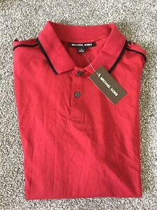 Michael Kors Red Mens Polo Shirt (M)