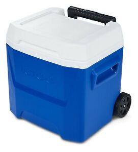 Igloo 16-Quart Laguna Roller Ice Chest Cooler with Wheels - Blue NEW