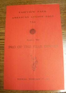 1981 Fairview Park Legion Dinner Program Signed by Cleveland Browns Players (9)