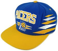 Mitchell & Ness NBA Indiana Pacers 100% Wool Adjustable Snapback Hat Cap EUC