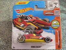 HOT WHEELS 2016 # 025/250 HONDA RACER rojo sobre amarillo digital Circuito Funda