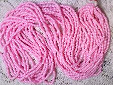 Vtg 1 HANK MATSUNO BABY PINK ROUND SEED BEADS JAPAN #070517j