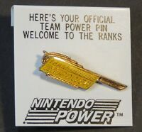 1989 Nintendo Team Power Members Enamel Pin Original Backing NES era Rare Yellow