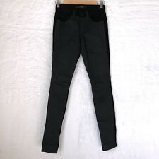 Joes Jeans Womens Size 25 Color Block Skinny Jeggings Gray Black Cotton Blend