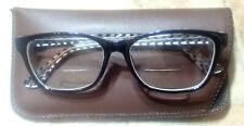 Zimco Attitudes 36 Eyeglasses BiFocal Prescription Black Check Frame 55- 17- 145