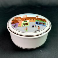 Villeroy & Boch Porcelain Trinket Dish Design Naif French Village Round Lidded