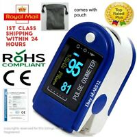 UK Pulse Oximeter Blood Oxygen Saturation SpO2 Meter Fingertip Pulse Monitor