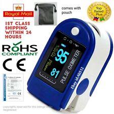 UK Pulse Oximeter Blood Oxygen Saturation SpO2 Meter Fingertip Pulse Monitor