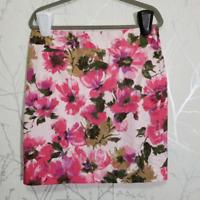 Jones New York Women's Pink Floral Print Pencil Skirt | Size 12P | Stretch