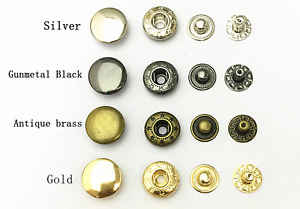 Premium Rivet Buttons Poppers Snap Fasteners Press Sewing Leather Craft 8mm-15mm