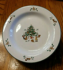 Ming Pao WOODLAND CHRISTMAS Rimmed Luncheon Salad Plate Vintage Replacement