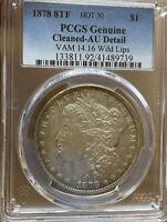 """1878 8TF Morgan Silver Dollar Vam 14.16 """"Wild Lips"""" PCGS Ultra Rare Vam - Hot 50"""