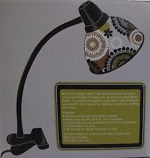 NIB Vera Bradley Clip Desk Lamp in Cocoa Moss - Great Student Desk Light