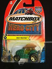 2004 Matchbox 1/64 Diecast Hero City #6 Max Tractor Mint on Card MQ