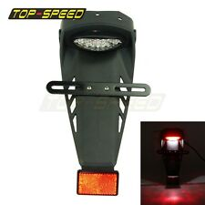 Motorcycle Tail Light For Enduro Trailbikes LED Rear Fender number plate Holder
