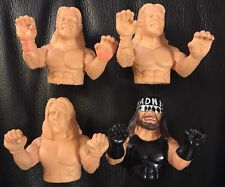 Lot Of 4 WCW Wrestling Thumb Wrestlers Macho Man Lex Luger