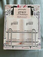 PHILOSOPHY Amazing GRACE Holidays Hand Wash and Lotion 8 oz 2 Piece Set w/Caddy