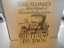 Eric Sloane / Return To Taos Signed 1st Edition 1960