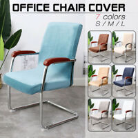 Office Stretch Velvet Chair Covers Computer Seat Chair Slipcovers S/M/L